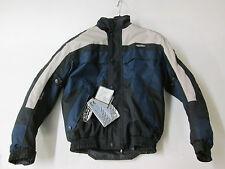 Nitro N-65 Waterproof Black/Navy Blue Textile Motorcycle Jacket (SMALL)