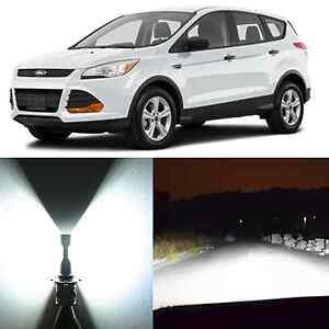 Alla Lighting High Beam Headlight 9005 White LED Bulb for 13~17 Ford Escape Edge