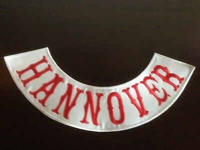 Abile Hannover Patch Ricamate Back Patch Nuovo 40x9cm Mc, 81, Tonaca, Biker, Chopper Nuovo-ker,chopper Neu It-it Mostra Il Titolo Originale