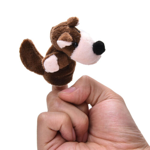 Finger Puppets Educational Hand Toy Kids Story Three Little Pigs Finger Doll!✔GB