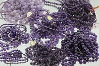 3735 Carats Of Genuine Natural Amethyst Beads Various Sizes