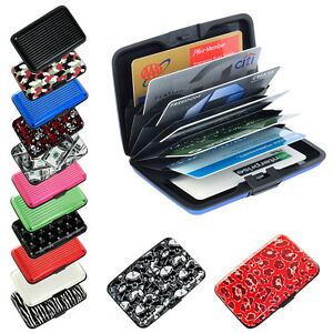 c515377d47cf Details about Pocket Waterproof Business ID Credit Card Wallet Holder  Aluminum Metal RFID Case