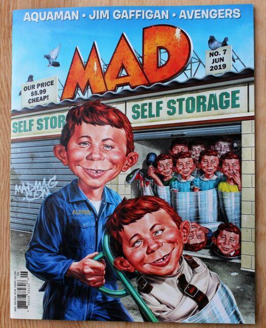 Mad Magazine; June, 2019; Self Storage; Aquaman; Avengers; Jim Gaffigan