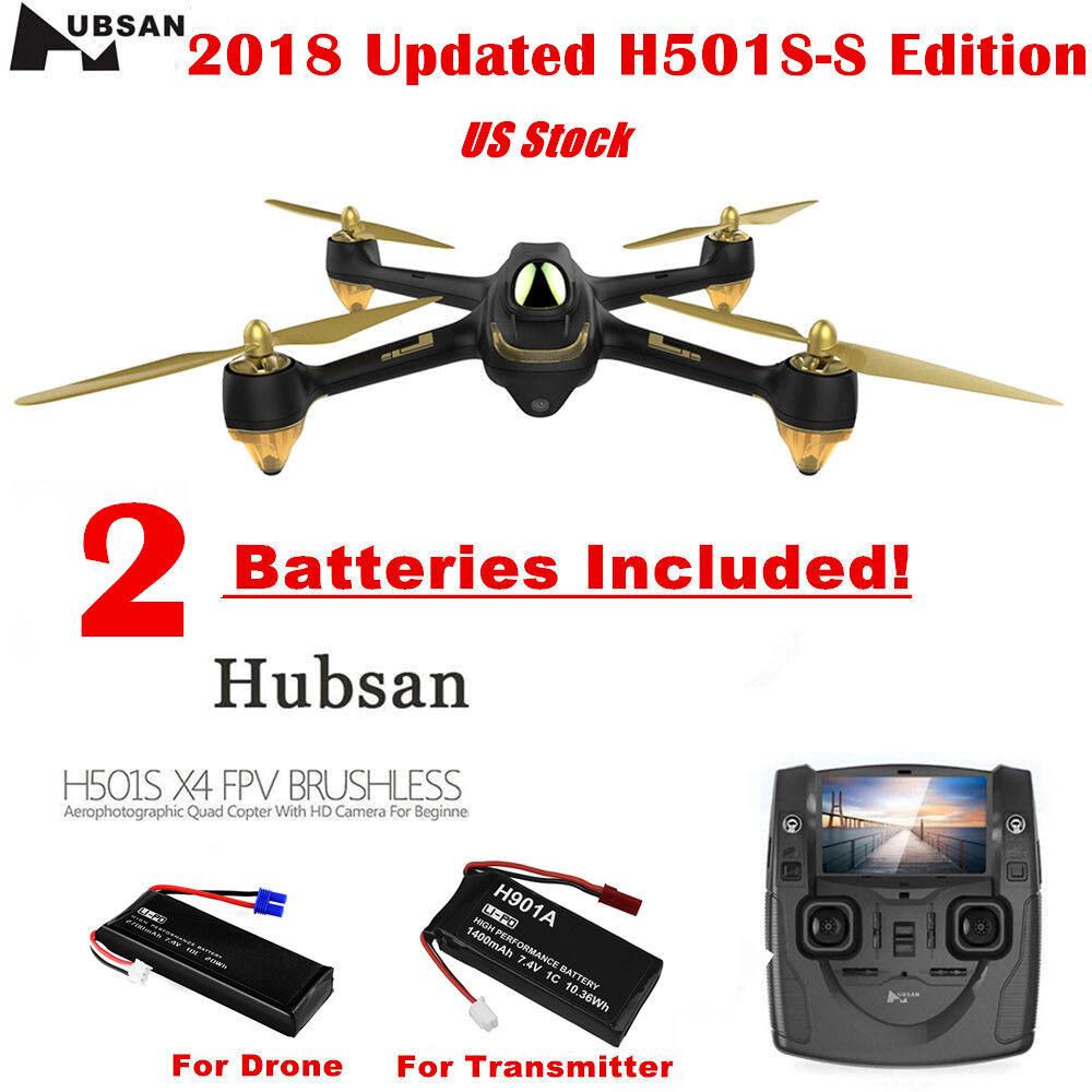 Hubsan X4 H501S 5.8G RC Quadcopter 1080P HD Brushless Follow Me GPS, 2 Batteries