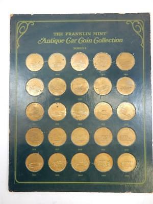 1969 #h55 1901-1925 Series 2 Fine Franklin Mint Antique Car Coin Collection