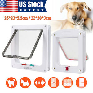 Dog-Cat-Flap-Doors-with-4-Way-Lock-For-Pets-Cat-Puppy-Dog-Entry-amp-Exit-S-L-Size