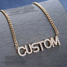 Fashion Arabic Name Necklace Personalized Crystal Silver Pendant Necklace  YNUK