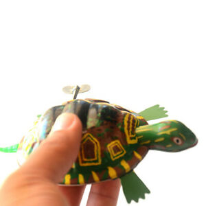 PM-Pretty-Iron-Moving-Tortoise-Wind-up-Clockwork-Toy-Kids-Hobby-Collectible-G