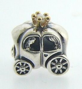 790598P-AUTHENTIC-PANDORA-STERLING-SILVER-amp-14-KARAT-GOLD-ROYAL-CARRIAGE-PEARL