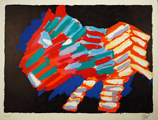 Karel Appel CAT IN NIGHT Original Signed Art 1978