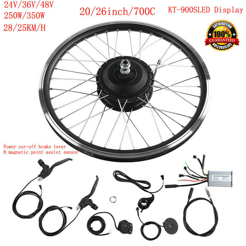 243648V 250350W Bike Modified Kit for 20 26 700C Wheel Motor LED EBike Kit
