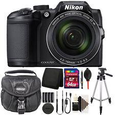 Nikon COOLPIX B500 16MP 40x Built-in Wi-Fi Digital Camera Black + 64GB Kit