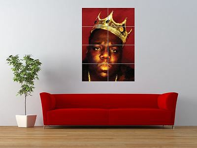 THE NOTORIOUS B.I.G. HIP HOP RAPPER CROWN GIANT ART PRINT PANEL POSTER NOR0227
