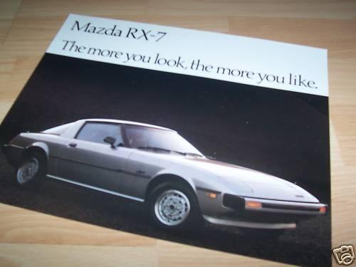 Brochure MAZDA RX 7 1980 //// Prospectus