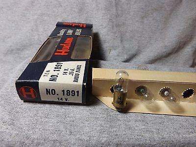 FOUR #46 6.3V .25A Screw Base Antique Radio Dial Lamps Fender Amp Pilot Bulbs