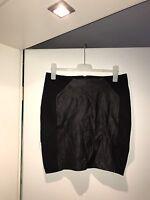 Neu Sehr Schöner Damen Rock Schwarz Kunst Leder Größe 44 Von H&M Reißverschluss