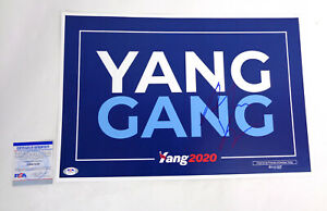 Andrew-Yang-For-President-2020-Signed-Autograph-Official-Sign-Poster-PSA-DNA-COA