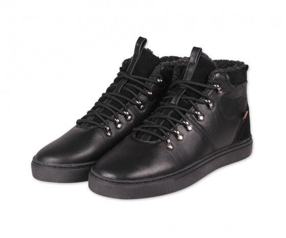 first rate ab2fe a594d Djinns Trek High pour 2018 P-leather chaussures en cuir cuir cuir hiver  chaussures noir Noir 0ef341