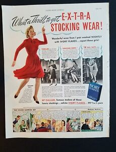 Details About 1940 Ivory Soap Flakes Mccallum Women S Luxury Stockings Hosiery Legs Ad