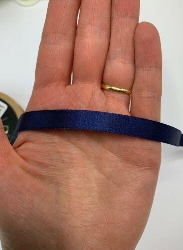 Navy Blue Satin Ribbon Dark Blue Berisfords New Life Eco Wedding Sash roll