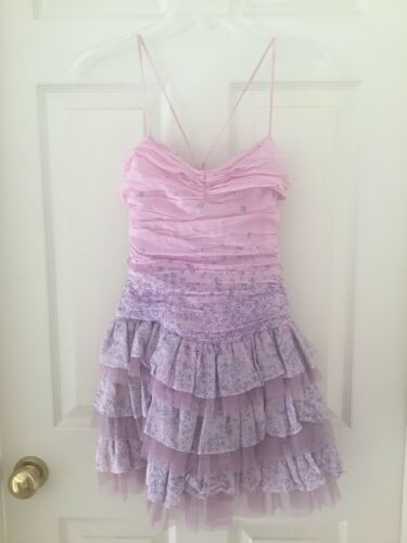 Forever 21 Orchid Lavender Tulle Tiered Mini Dress