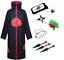 Indexbild 12 - Naruto AKATSUKI ROBE Cloak Uchiha Itachi Cosplay Costume Claok Cape Unisex S-XXL