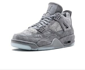 buy popular 745cb 1bd71 Details about Nike Air Jordan Retro 4 KAWS Cool Grey Kaws X Air Jordan 4  Cool Grey Size 8