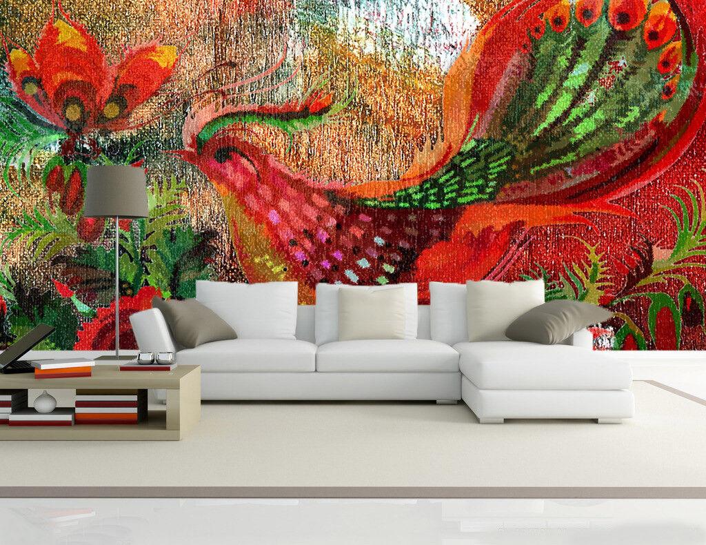 3D Rote Blaumen Phoenix 85 Tapete Wandgemälde Tapete Tapeten Bild Familie DE