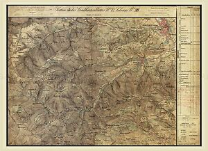MAP-AUSTRO-HUNGARIAN-MILITARY-1872-KLOSTERNEUBURG-REPLICA-POSTER-PRINT-PAM0539