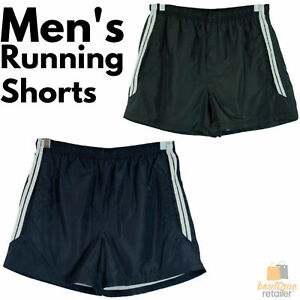 MENS RUNNING SHORTS Gym Training Sports Workout Jogging S-XXL Fitness Black 0974