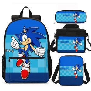 Kids School Bag Set 2020 Sonic the Hedgehog Backpack Lunch Bag Sling Bag Pen Lot