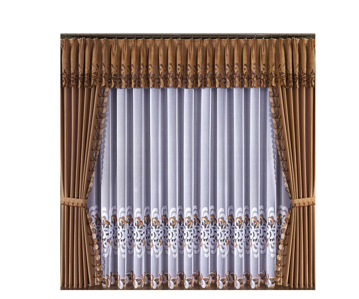 An Elegant Elegant Elegant Set Consisting Of Net Curtain And Curtains Pelmet Window Decoration 0e69fa
