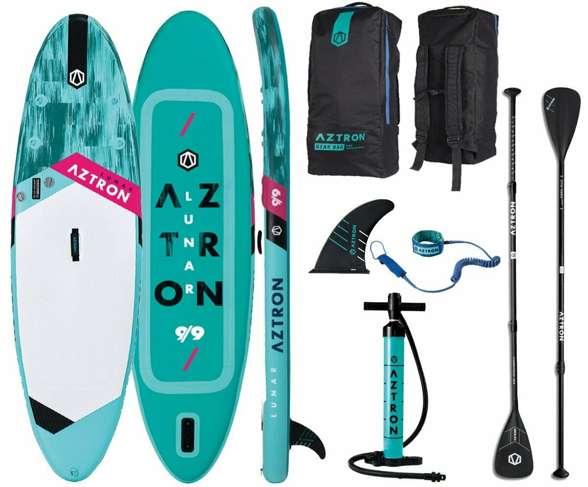 AZTRON LUNAR 9.9 iSUP Stand up up up Paddle Board Style Alu Paddel Leash 14bccd