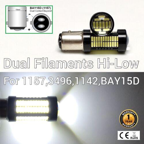 Brake Stop Light 1157 2057 3496 7528 BAY15D 108 6K White LED Bulb M1 For Audi R
