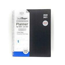 """See It Bigger April 2019 June 2020 Monthly Weekly Planner 6.5/""""x 8.25/"""" New Black"""