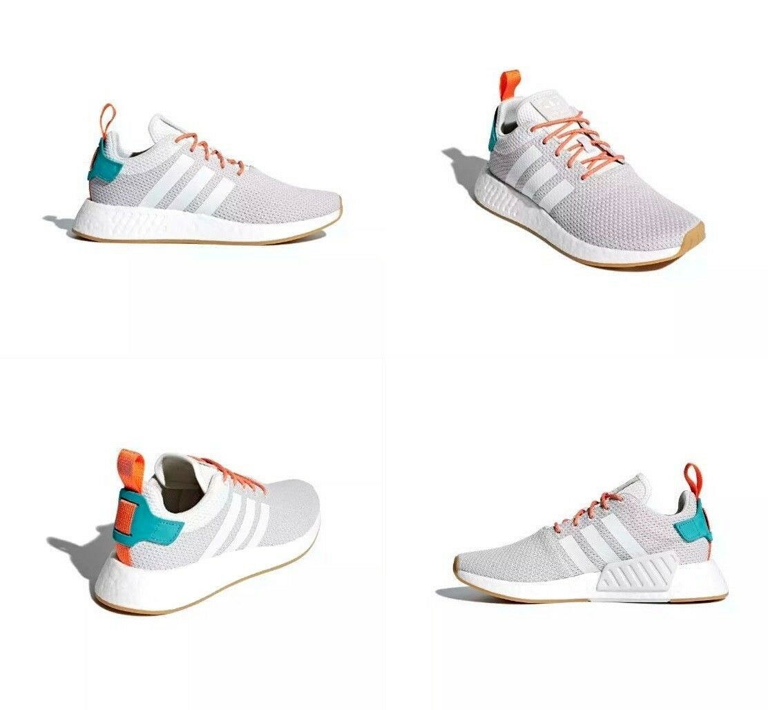 Adidas NMD R2 Summer Gum White / Grey / Gum Summer Mens Running Shoes CQ3080 Size 9 US 66ace1