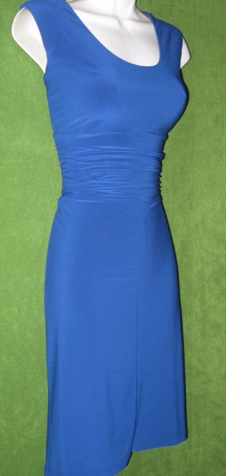 Nine West Regal bluee Stretch Jersey Ruched Versatile Work Social Dress 8