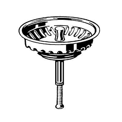 Siebkorbeinsatz für Villeroy und Boch Spülen nach April 1996 mit Handbetätigung
