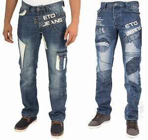 Image Is Loading Mens Jeans Eto Em441 Amp Em450 In Blue