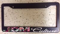 Jdm Culture Sticker Bomb Race Drift Low Turbo Black License Plate Frame (cultf8)
