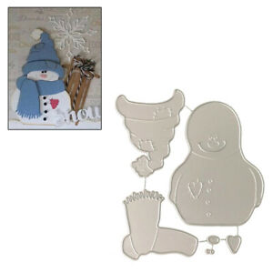 Christmas Snowman Cutting Dies Stencil DIY Scrapbooking Album Paper Card