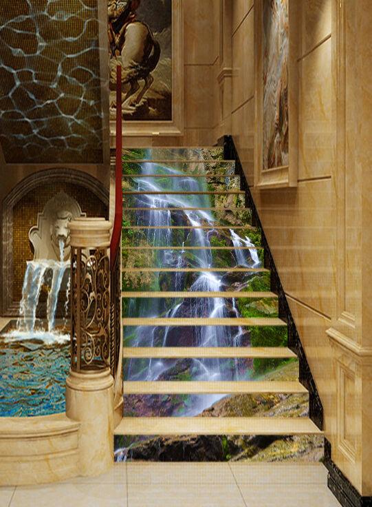 3D Endlos Strom 53 Stair Risers Dekoration Fototapete Vinyl Aufkleber Tapete DE
