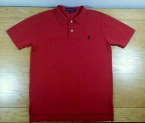 U-S-POLO-ASSN-100-Cotton-Business-Casual-Or-Golf-Polo-Shirt-M-Men-039-s-Medium