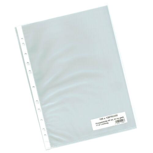 Prospekthüllen Sichthüllen A5 A4 transparent glasklar genarbt 40 50 60 90my Wahl
