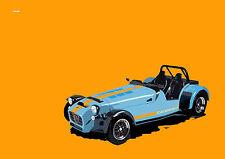 CATERHAM R500 FRAMED CAR ART PRINT