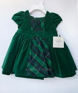 Christmas Green Dress.Details About Laura Ashley Baby Girl Traditional Christmas Green Velvet Holiday Dress 3 6m Nwt