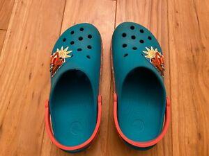 Disney Teal Moana Crocs Light Up Shoes