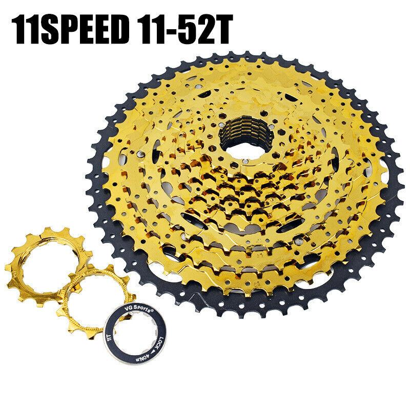 BICICLETTA forza 11SPEED 1152t CASSETTA Mountain Bike cava design oro nuovo