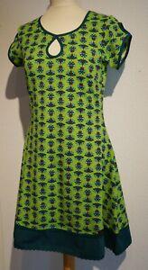 gut aus x Freiraum suchen Original kaufen Details zu Chapati Biobaumwolle Jersey Kleid Fairtrade Grün Lotus G-8420