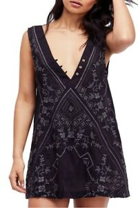 Free-People-Womens-Sweetest-OB799649-Dress-Relaxed-Black-Size-XS